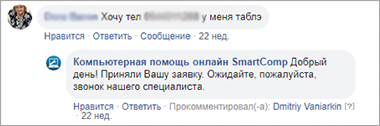Вовлеченность пенсионеров в рекламу Facebook
